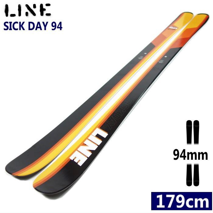 ★[179cmセンター幅94mm]LINE SICK DAY 94 ゲレパウ&カービングターンが楽しめるラインのオールマウンテンスキー板 シックデイ 型落ち 旧モデル