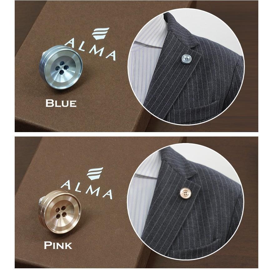 ラペルピン メンズ 香るボタン型ピンズ バッチ「ALMA アロマピンズ (アルーマ)」アロマや香水を染み込ませ香りを纏う 香るアクセサリー 精密なアルミ削り出し|offer1999|03
