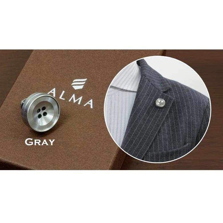 ラペルピン メンズ 香るボタン型ピンズ バッチ「ALMA アロマピンズ (アルーマ)」アロマや香水を染み込ませ香りを纏う 香るアクセサリー 精密なアルミ削り出し|offer1999|04