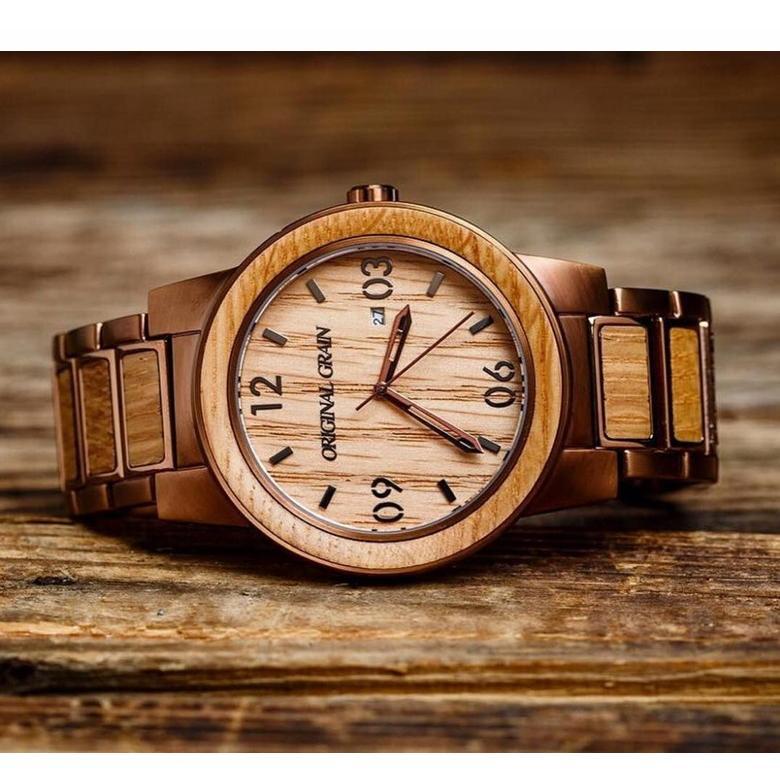 メンズ用腕時計 Original Grain (オリジナルグレイン) The Barrel Whiskey Barrel (ウイスキーバレル)アメリカ オレゴン州 想いを繋ぐ百貨店 TSUNAGU offer1999 05