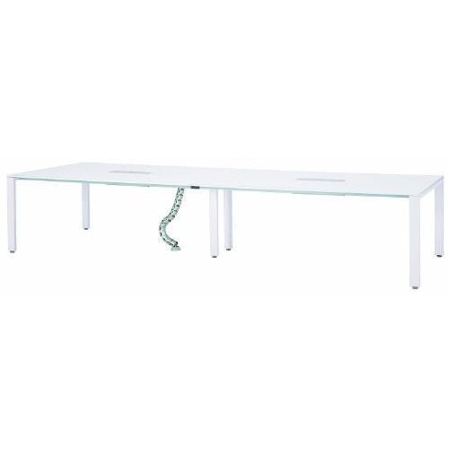 井上金庫 UTS-S3612 テーブル ミーティングテーブル ミーティングテーブル 会議用テーブル コンセントボックス付き W3600*D1200*H700M