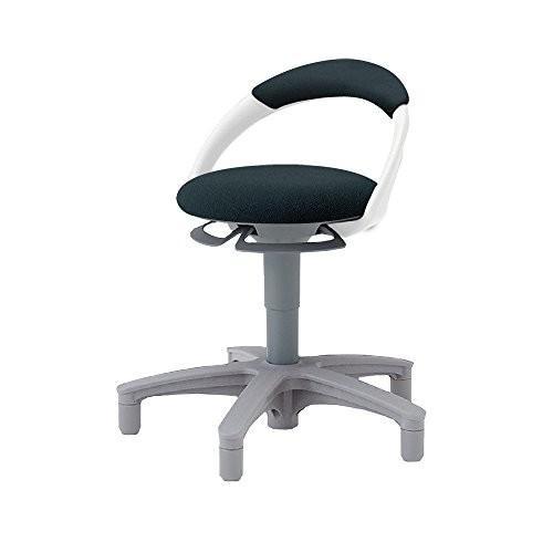 イトーキ イトーキ イトーキ サポートスツール 椅子 背付 アジャスター脚 布張り PCK-1101GB-T1 ブラックT ed3