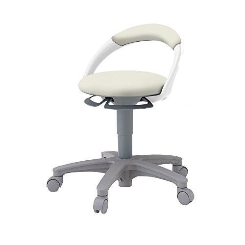 イトーキ 椅子 サポートスツール 背付 キャスター付 ビニールレザー張り PCK-1100DL-C8 オフホワイトC