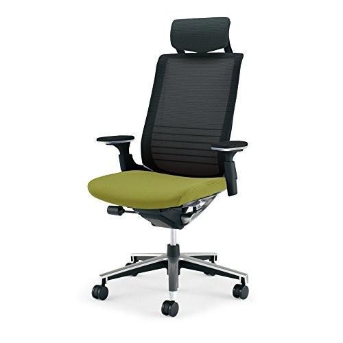 コクヨ オフィスチェア インスパイン CRGA2515E6GMQ3W CRGA2515E6GMQ3W 背ブラック 座リーフグリーン