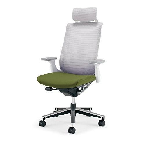 コクヨ オフィスチェア インスパイン インスパイン CRGA2515E1GMQ5V 背ホワイト 座オリーブグリーン