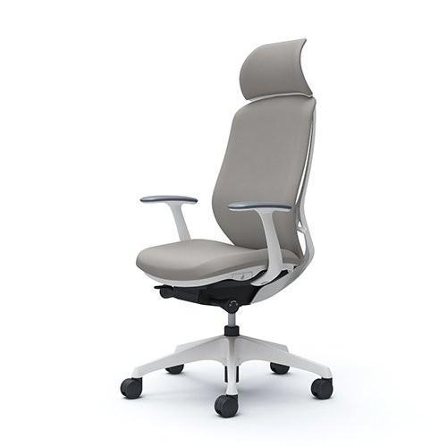 オカムラ オフィスチェア シルフィー エキストラハイバック クッション デザインアーム 樹脂脚 ホワイトフレーム C64CXW-FSG3 ラ