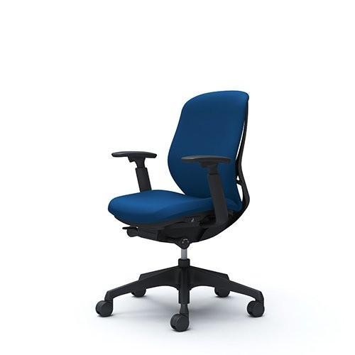 オカムラ デスクチェア オフィスチェア シルフィー ローバック クッション アジャストアーム 樹脂脚 ブラックフレーム C683XR-FS
