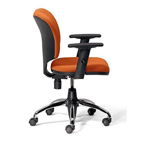 プラス オフィスチェア プロップ KD-A95SEL ナイロンキャスター オレンジ