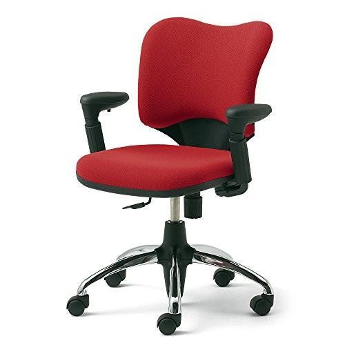 プラス オフィスチェア オフィスチェア プロップ KD-A94SEL ナイロンキャスター レッド