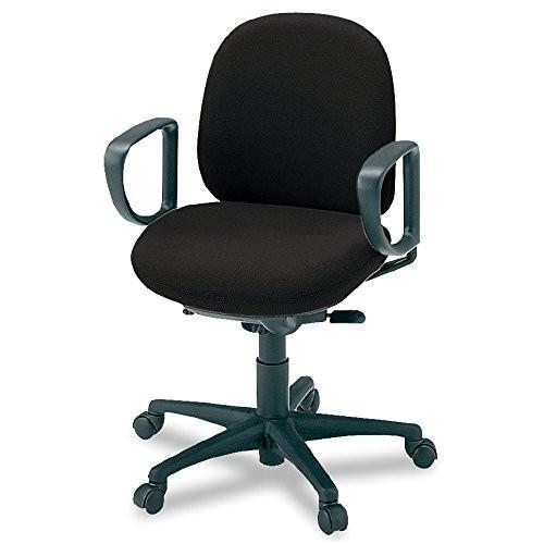 プラス オフィスチェア オフィスチェア 950-2 ローバック ループ肘 クロス KB-F27SEL ブラック