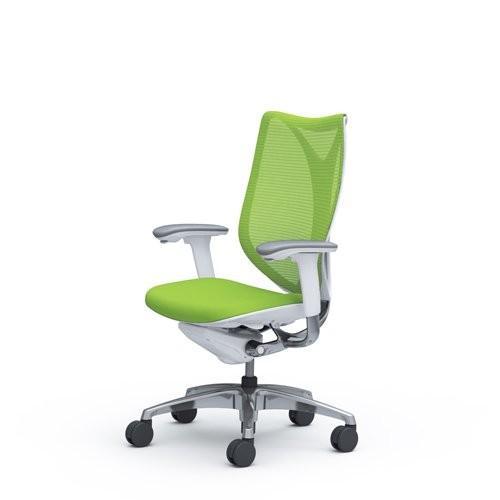 オカムラ サブリナ サブリナ オフィスチェア スマートオペレーション ハイバック ホワイトフレーム ライムグリーン C883BW-FSY5