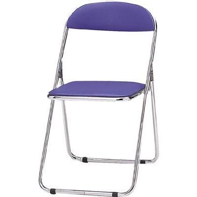 トキオ パイプ椅子 シリンダ機能付 スチールメッキパイプ 青 2417910 2417910 CF100M