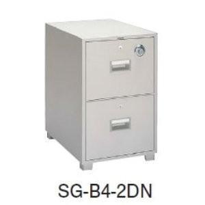 生興 生興 耐火キャビネット B4・2段 オールロック錠付 209KG SG-B4-2N