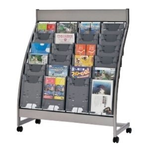 生興 カタログスタンド ポケット式 ポケット式 A4判4列6段 W1035×D425×H1220MM PSR型 PSL-C406