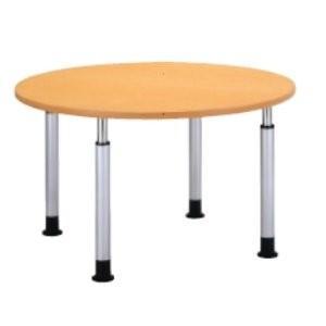 生興 クリーン福祉施設テーブル クリーン福祉施設テーブル 昇降タイプ Φ1200×D-×H600~800MM KT-1200M