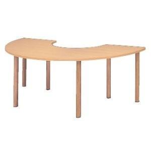 生興 福祉施設用木製テーブル・脚部高さ調整 W2000×D1000×H700~750MM  RTM型 RTM-2010RS|offic-one