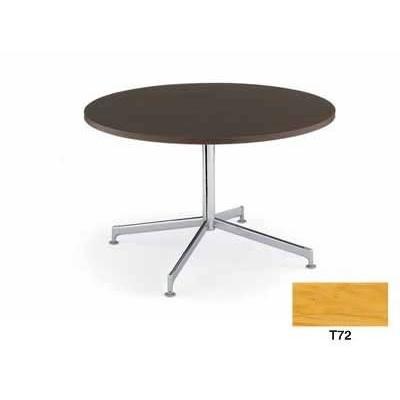 コクヨ イートイン シリーズ テーブル リフレッシュテーブル 十字脚 高さ700MMタイプ 天板寸法 天板寸法 直径1050MM 突板 メッキ脚