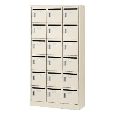 生興 SLC18TP-K メールボックス 18人用 3列6段 鍵なし|offic-one