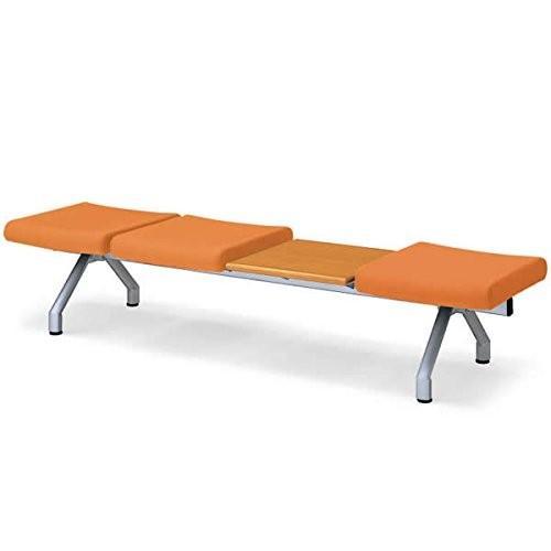 コクヨ ロビーチェアー470シリーズ 4連テーブル付きベンチ カラー G8A3