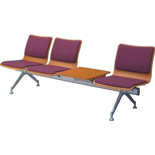 コクヨ ロビーチェアー770シリーズ 4連テーブル付きチェアー 布 幅2270MM カラー HC95