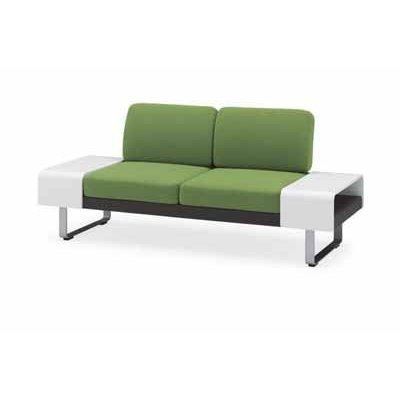 コクヨ   ラフォンテシリーズ 2人掛けソファー サイドテーブル付き 幅1780×奥行き680×高さ755MM カラー G753 モデレートス|offic-one