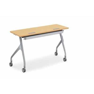 コクヨ   会議用テーブル エピファイ 会議用テーブル 天板フラップ式 配線キャップ付き パネルなし 直線タイプ 幅1200×奥行き45|offic-one