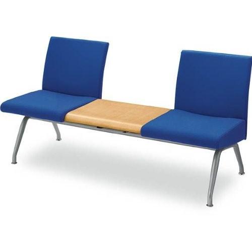 コクヨ ロビーチェアー コレッティ 3連テーブル付きアームレスチェアー 幅1580MM カラー K059 フィレストグリーン