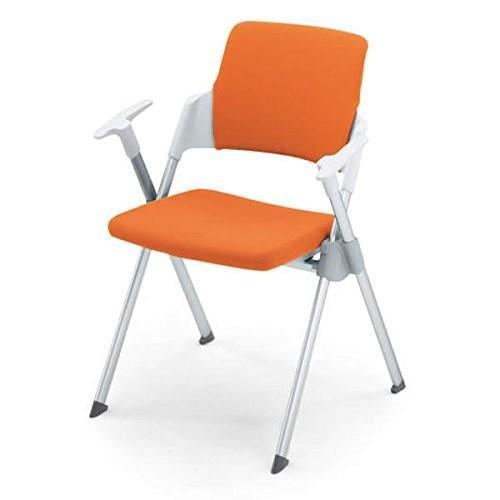 コクヨ ミーティングチェア アンフィ アンフィ 背カバータイプ 固定脚タイプ 肘付きチェア カラー KZ07 マンダリンオレンジ