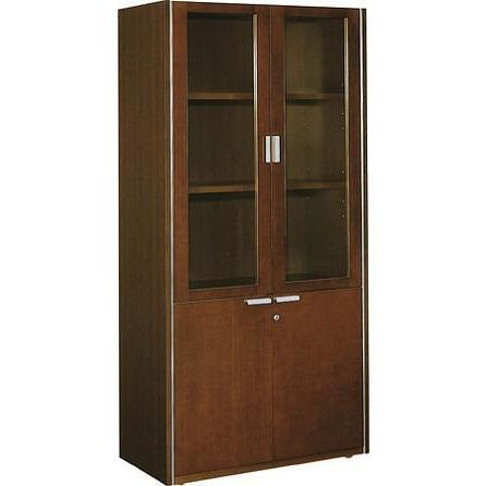 コクヨ 役員室用家具 マネージメントN650シリーズ 両開き書棚 ガラス扉タイプ ガラス扉タイプ カラー W05 ブラウン