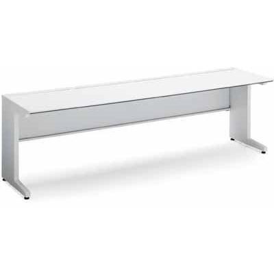 コクヨ ISデスクシステム スタンダードテーブル 幅1100×奥行き650MM 引き出しなし 天板色 PAW ホワイト
