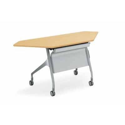 コクヨ 会議用テーブル エピファイ エピファイ 会議用テーブル 天板フラップ式 配線キャップ付き パネル付き コーナータイプ 幅1565×奥行き