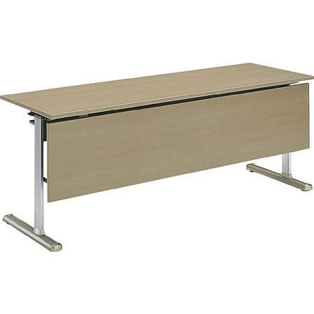 コクヨ 会議 ミーティング用テーブル KT-700シリーズ 薄型キャスタータイプ 薄型キャスタータイプ 天板フラップ式 パネル付き 直線 幅1500×奥