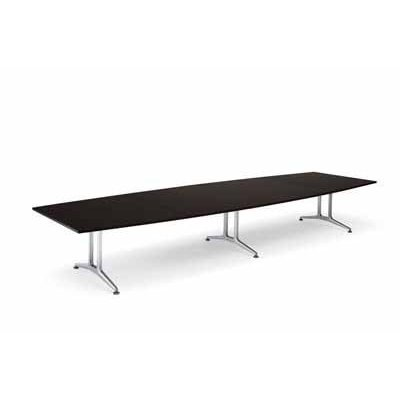 コクヨ 大型会議テーブル WT-200シリーズ ボート型 メラミン天板 配線なし 幅2400MM×奥行き1200×高さ720MM 幅2400MM×奥行き1200×高さ720MM カラー P