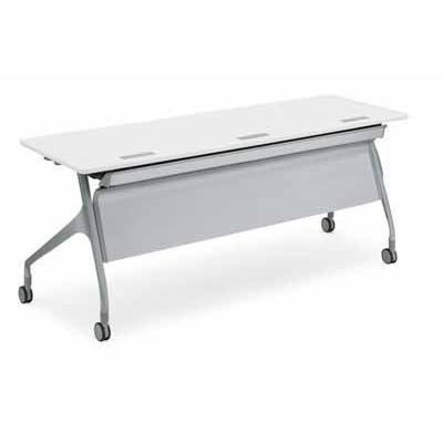 コクヨ   会議用テーブル エピファイ 会議用テーブル 天板フラップ式 配線キャップなし パネルなし 直線タイプ 幅1500×奥行き60 offic-one