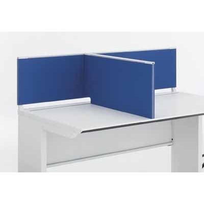 コクヨ   ISデスクシステム デスクトップパネル サイドタイプ 中間用  奥行き650×高さ350MM クロスカラー HSM1 ホワイト|offic-one