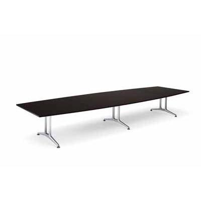 コクヨ 大型会議テーブル WT-200シリーズ ボート型 突板天板 突板天板 配線付き 幅2400MM×奥行き1200×高さ720MM カラー W03