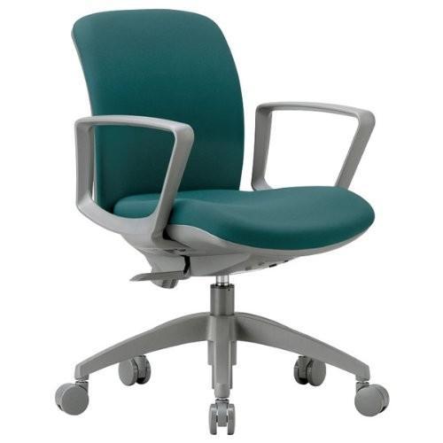 アイコ 3Dフォーム・オフィスチェア サークル肘付タイプ・布地張り カラー グレー グレー グレー de6