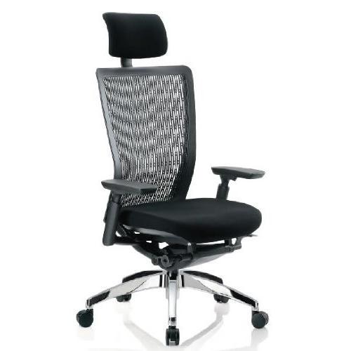アイコ オフィスチェア ハイバック ハイバック 肘付き ブラック 背 樹脂メッシュ アルミ脚 背カラー ホワイト