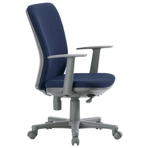 アイコ オフィスチェア ミドルバックT型肘タイプ 背・座カラー 座の材質 布 ダークブルー ダークブルー