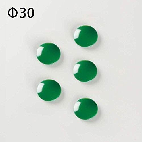 馬印 カラーマグネット Φ30 Φ30 Φ30 5個入り 緑 CM30P-G 32c