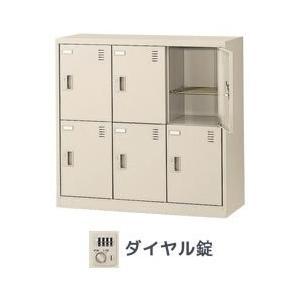 生興 SLC-M6-D シューズボックスダイヤル錠3列2段6人用|offic-one