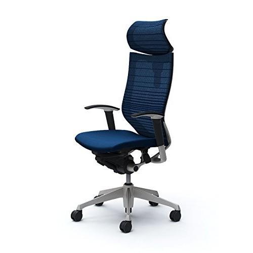 オカムラ デスクチェア オフィスチェア バロン 可動ヘッドレスト 可動肘 座クッション ミディアムブルー CP81DR-FGR3 CP81DR-FGR3