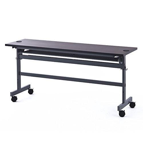 アールエフヤマカワ 配線機能付きフォールディングテーブル2 W1500XD450 ダーク SHFTL-1545DB RFYAMAKAWA