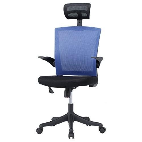 井上金庫 井上金庫 オフィス メッシュチェア ヘッドレスト付き 可動肘付き オフィスチェア OAチェア ワークチェア GD-564H BL ブルー