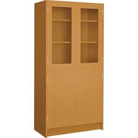 コクヨ 役員室用家具 マネージメント70シリーズ 両開き書棚 上段扉木枠付きガラスタイプ カラー W09 ウェンジブラウン