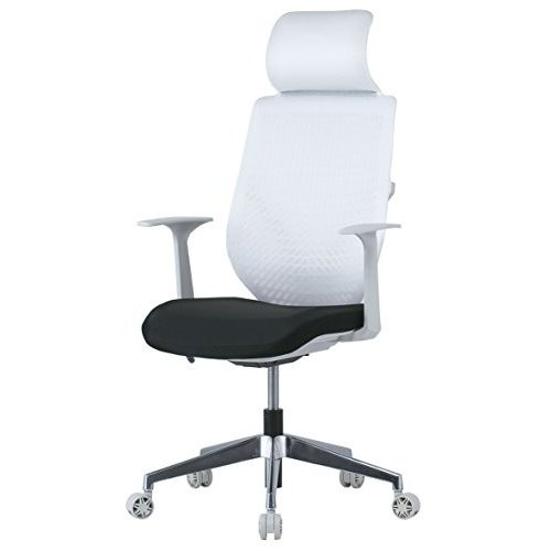 井上金庫 ハイバック ハイバック メッシュチェア 肘・ヘッドレスト付き メッキ脚 オフィスチェア 事務椅子 GD-646 BK ブラック