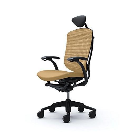 オカムラ オフィスチェア コンテッサ 固定肘 ヘッドレストタイプ ヘッドレストタイプ 座 クッション サンドベージュ CM12BB-FGF7