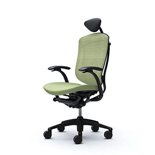 オカムラ オフィスチェア コンテッサ 固定肘 ヘッドレストタイプ ヘッドレストタイプ 座 クッション ピスタチオグリーン CM12BB-FGF6