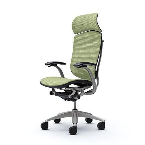 オカムラ オカムラ オフィスチェア コンテッサ 固定肘 ヘッドレストタイプ 座 メッシュ ピスタチオグリーン CM81SB-FGH6