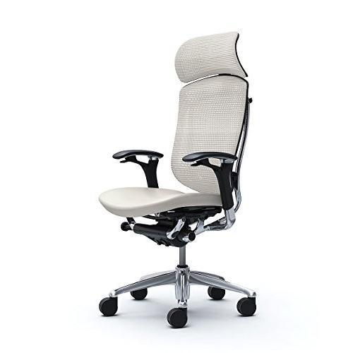 オカムラ オフィスチェア コンテッサ 可動肘 ヘッドレストタイプ 座 革 ホワイト CM92AB-FME3